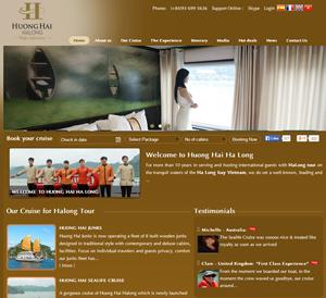 Thiết kế website tàu du lịch Hương Hải Hạ Long