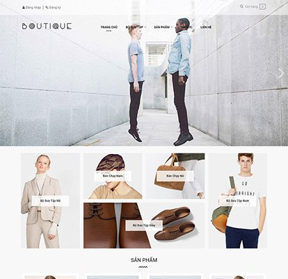 Thiết kế website thời trang Ap Boutique