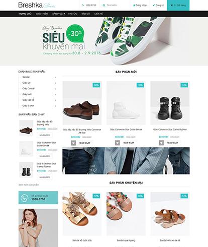 Thiết kế Website Thời trang Breshka shoes