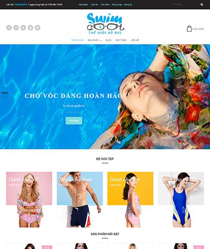 Thiết kế website thời trang đồ bơi Swim Style