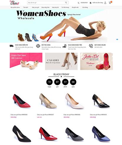 Thiết kế website thời trang giày nữ Charming shoes