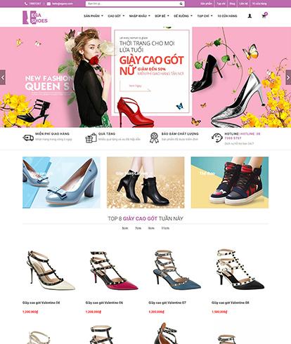 Thiết kế website thời trang giày nữ EGA women Shoes
