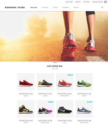 Thiết kế website thời trang giày thể thao Running Store