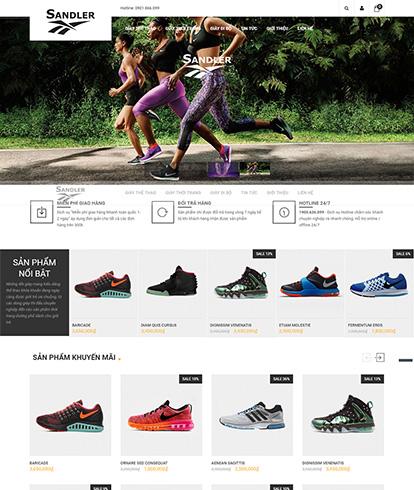 Thiết kế website thời trang giày thể thao Sandler