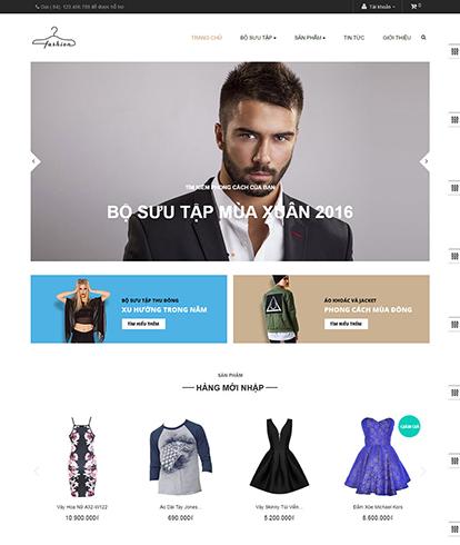 Thiết kế Website Thời trang Leo Fashion