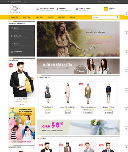 Thiết kế Website Thời Trang Leo Fashion Store