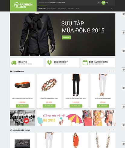 Thiết kế Website Thời trang Leo Thời Trang