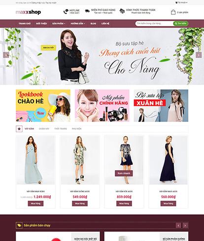 Thiết kế Website Thời Trang MaxxShop