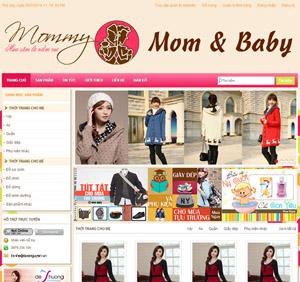 Thiết kế website thời trang Mom & Baby