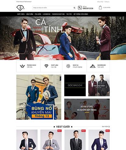 Thiết kế website thời trang nam Fashion shop
