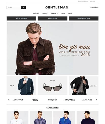 Thiết kế Website Thời trang Nam Gentleman