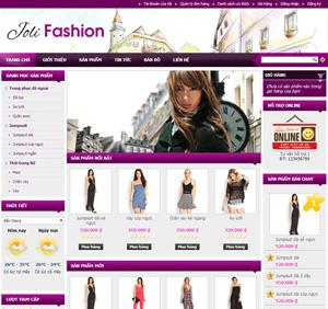 Thiết kế website thời trang nam nữ