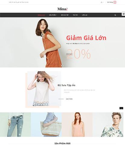 Thiết kế website thời trang nam nữ AP Mine