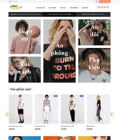 Thiết kế website thời trang nam nữ teencode