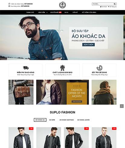 Thiết kế website thời trang nam Suplo Fashion