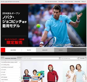Thiết kế website thời trang Nhật