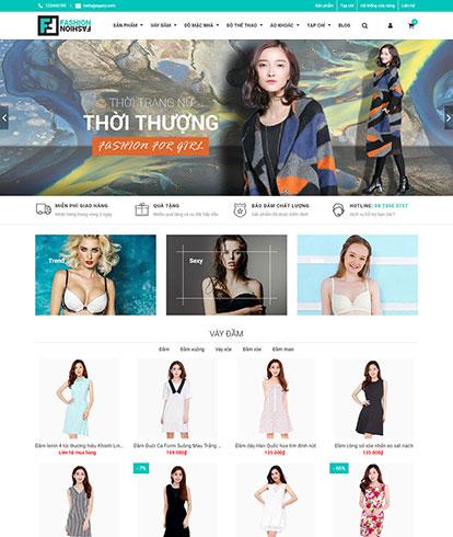 Thiết kế Website Thời trang nữ EGA Fashion Magazine