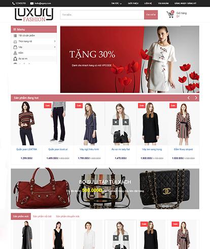 Thiết kế website thời trang nữ EGA Luxury Fashion