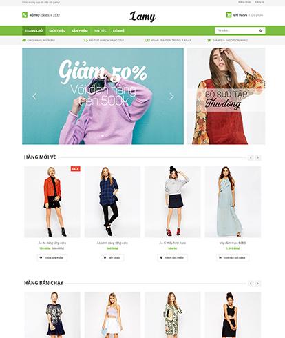 Thiết kế website Thời trang nữ Lamy
