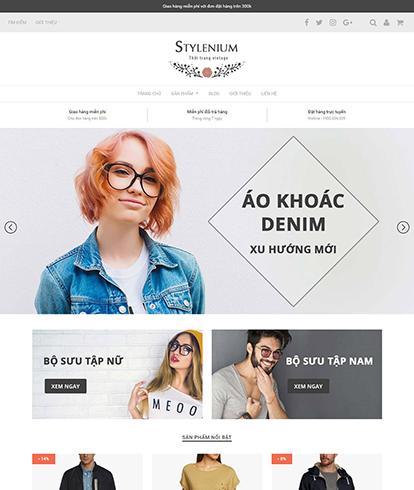 Thiết kế website thời trang quần áo Stylenium