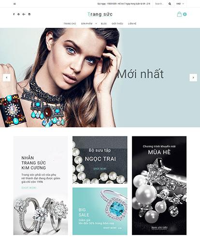 Thiết kế Website Thời trang Trang sức