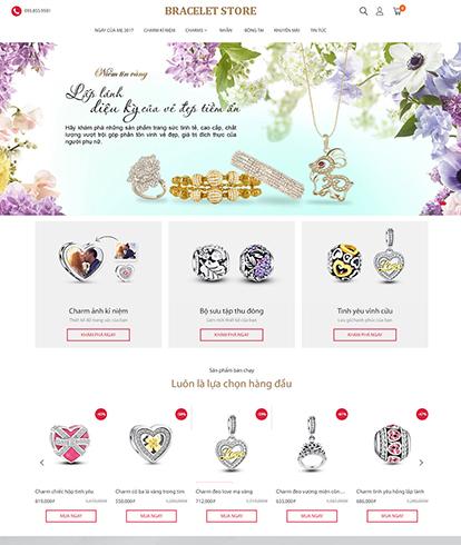 Thiết kế Website Thời trang Trang Sức Bracelet Store