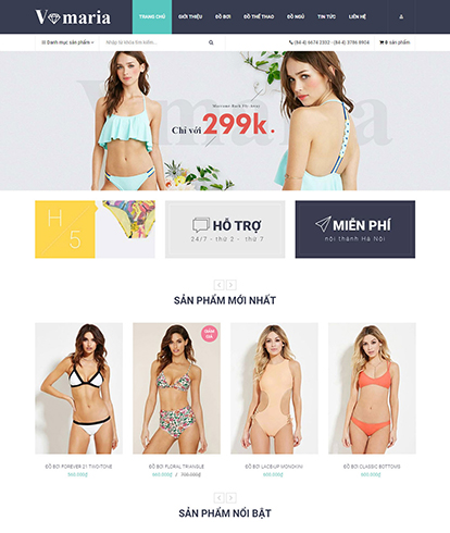 Thiết kế Website Thời trang Vormaria