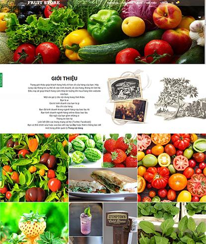 Thiết kế website thực phẩm sạch FruitStore