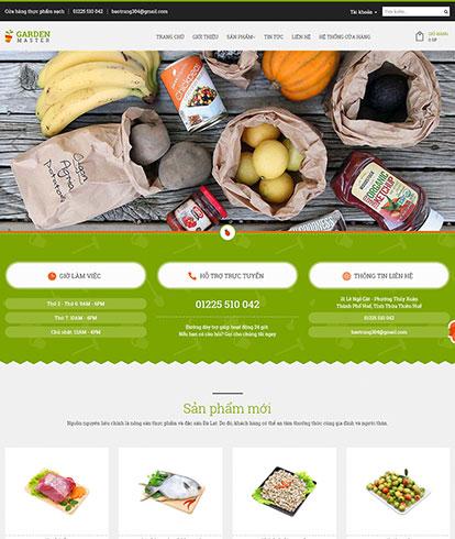 Thiết kế Website Thực phẩm sạch Garden