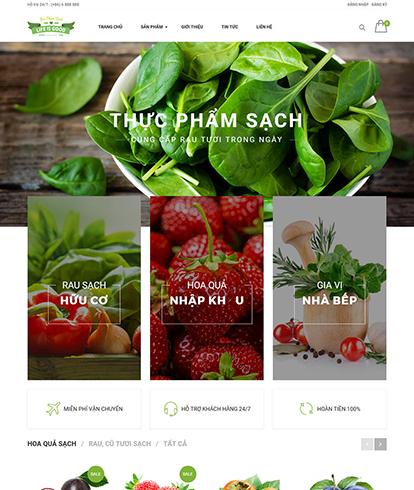 Thiết kế website thực phẩm sạch Life Is Good