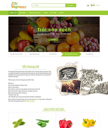 Thiết kế website thực phẩm sạch Vegestables