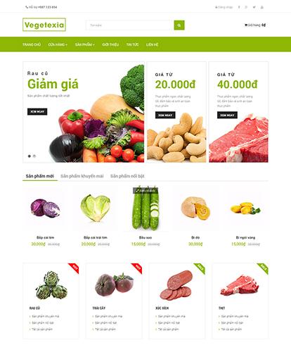 Thiết kế website thực phẩm sạch Vegetexia