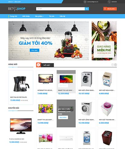 Thiết kế Website Thương mại điện tử Betashop