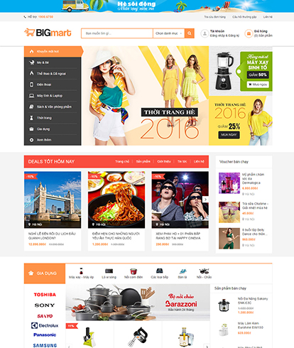 Thiết kế Website Thương mại điện tử Bigmart