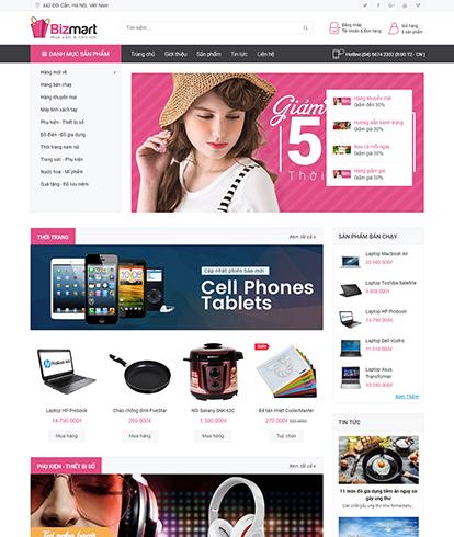 Thiết kế Website Thương mại điện tử Bizmart