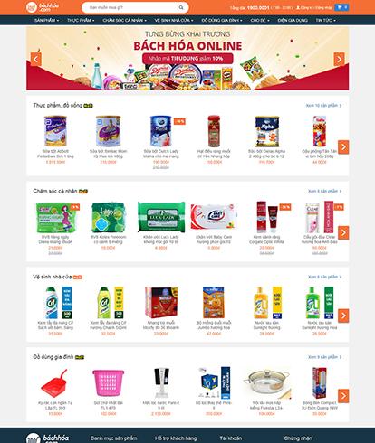Thiết kế website thương mại điện tử EGA Bách Hóa