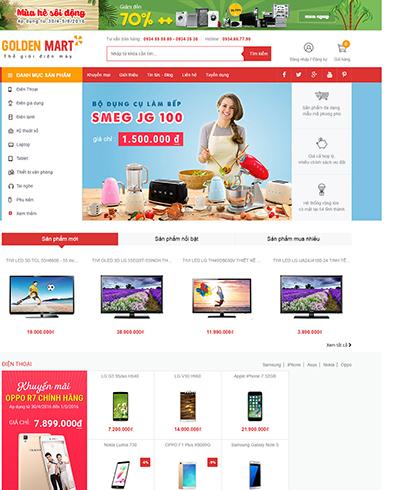 Thiết kế Website Thương mại điện tử Golden mart