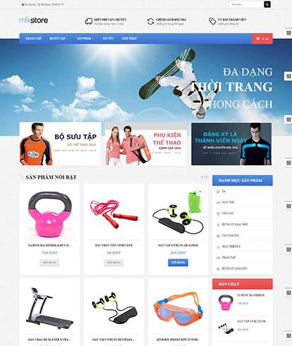 Thiết kế Website Thương mại điện tử Leo Mixstore