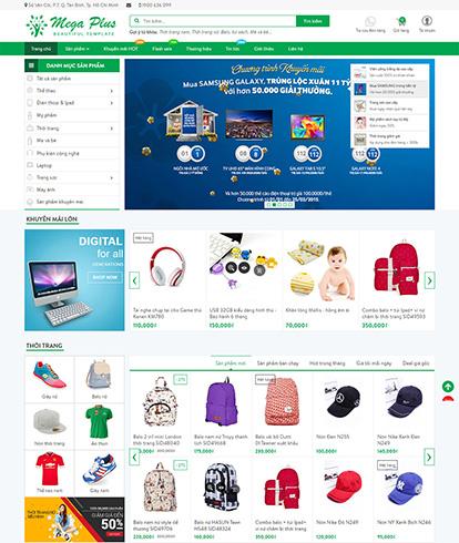 Thiết kế website thương mại điện tử Mega Plus
