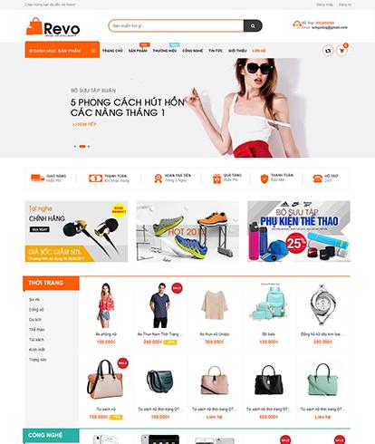 Thiết kế website thương mại điện tử Revo store