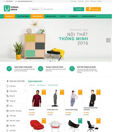 Thiết kế Website Thương mại điện tử Ubanplaza