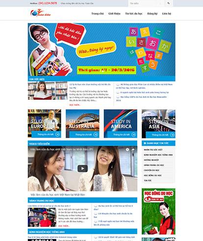 Thiết kế website Tin tức Education