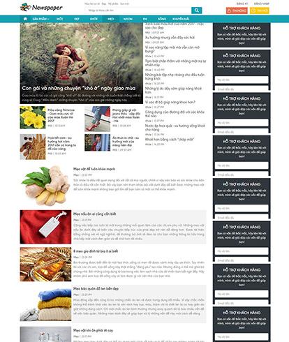 Thiết kế website tin tức Newspaper