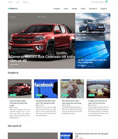 Thiết kế Website tin tức Newsup