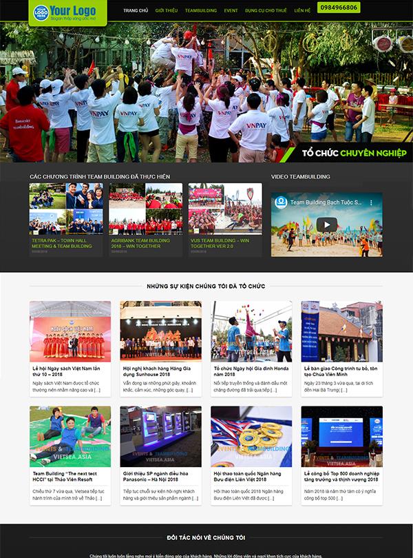 Thiết kế website tổ chức sự kiện chuyên nghiệp