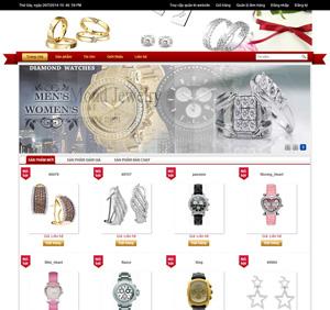 Thiết kế website trang sức đẹp