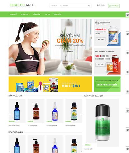 Thiết kế website y tế Leo Heathy