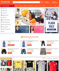 Mẫu website bán hàng thời trang, phụ kiện