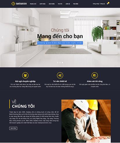 Thiết kế Website bất động sản Batakoo