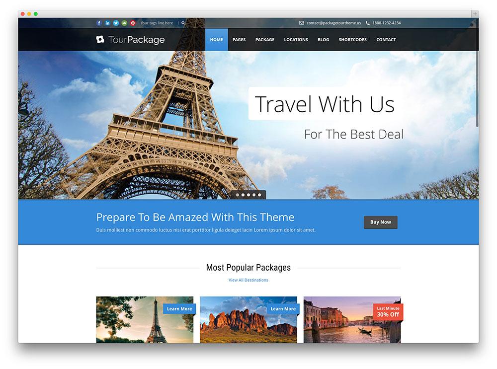 Top 10 mẫu website du lịch năm 2017